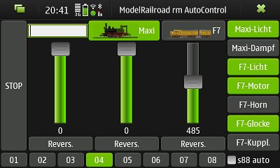 Märklin CS2-s88 App for Nokia N900 and other PyGTK-compatible devices.