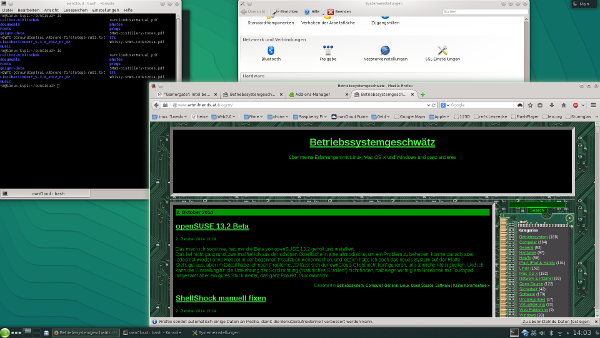 openSUSE 13.2 Beta Screenshot